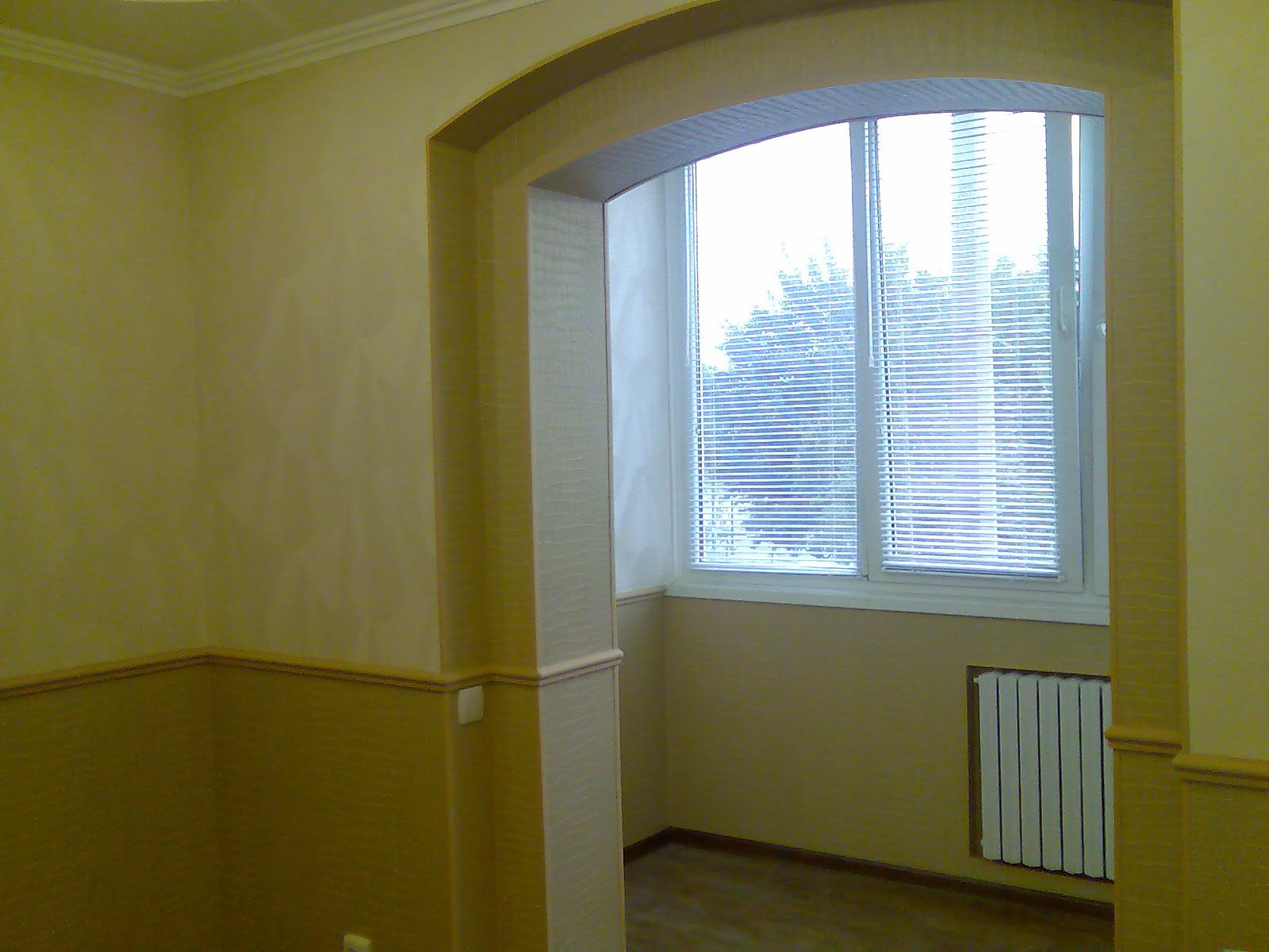 Совмещение комнаты и балкона.
